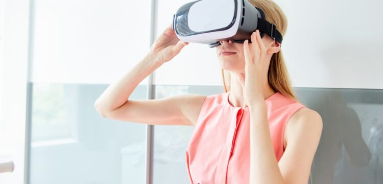 VR体験の図